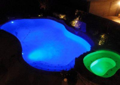 LED Lit Pool - Blue & Green
