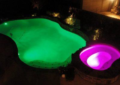 LED Lit Pool - Green & Pink