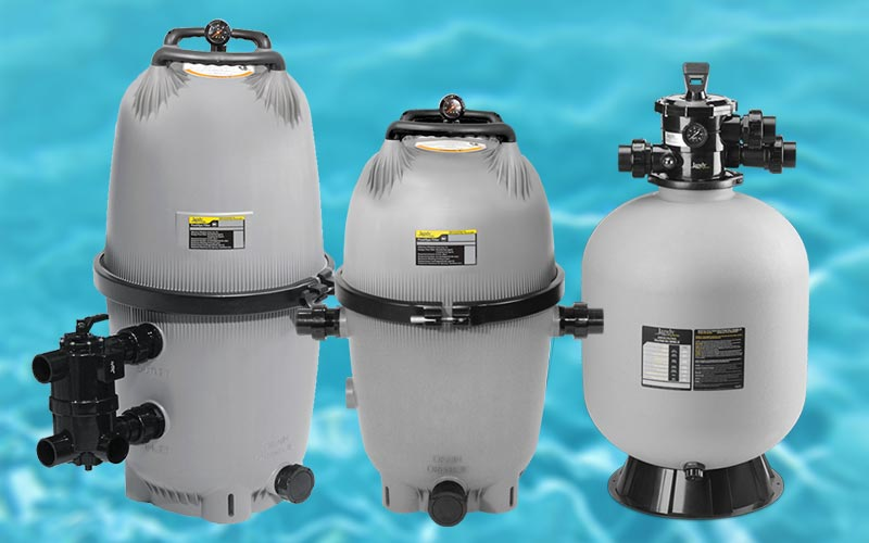 DE, Cartridge, and Sand Pool Filters