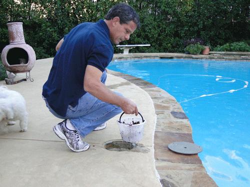 Cleaning Skimmer Basket