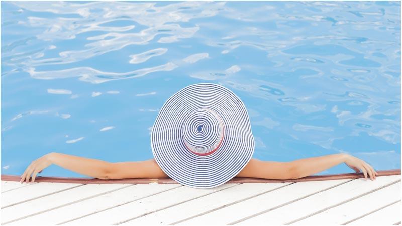 Lounging in a Beautiful Pool