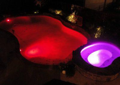 LED Lit Pool - Red & Purple