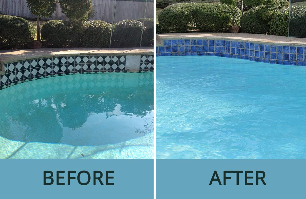 Before and After Pic of Renovated Swimming Pool